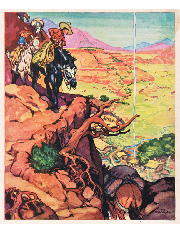 Holling illustration from the Book of Cowboys