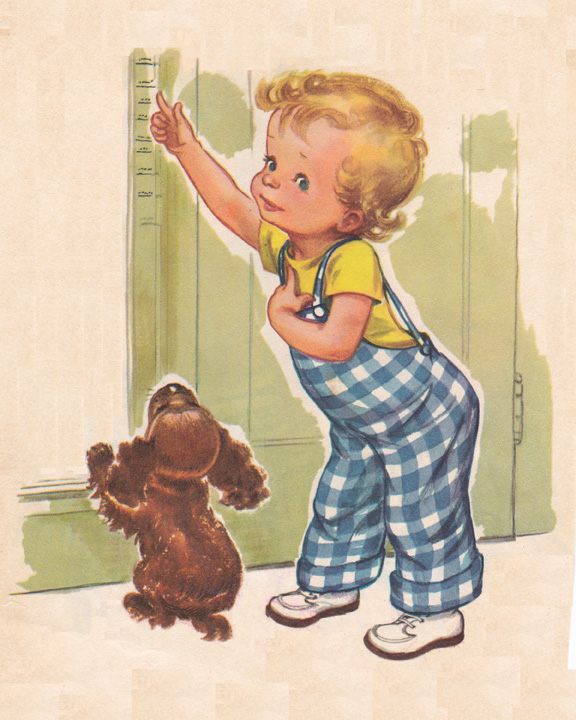 vintage child illustration