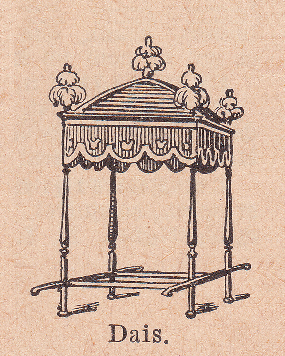 french dictionary illustrations dais or canopy