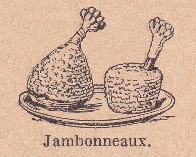 french dictionary illustrations of hams