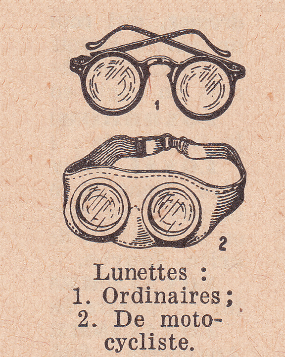 french dictionary illustration of lunettes