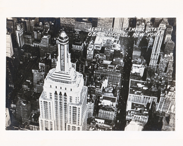 old photograph Empire State Building New York City