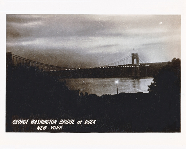 George Washington Bridge at Dusk New York City
