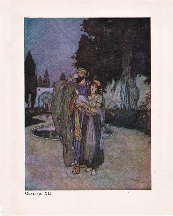 Edmund Dulac illustration for The Rubaiyat of Omar