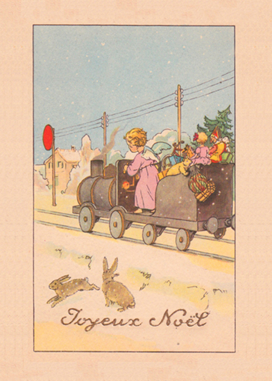 vintage french christmas card