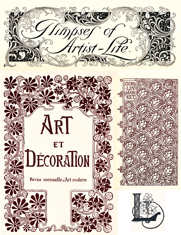 art nouveau illustrations
