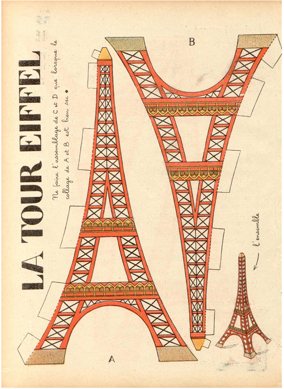eiffel tower model template free download vintage eiffel tower printable redbudart